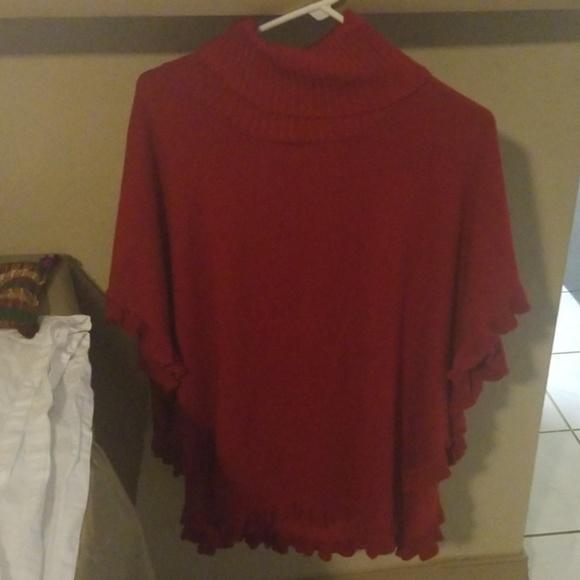 Sweaters - Joseph A Turtle knock poncho  Sweater